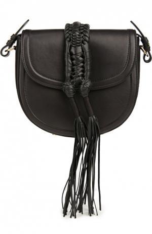 Сумка Ghianda Knot с плетеными жгутами из кожи Altuzarra. Цвет: черный