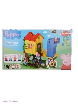 Конструктор Дом на дереве Peppa Pig, 94 детали BIG. Цвет: желтый, зеленый, коричневый, красный, синий