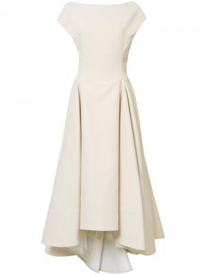 Расклешенное платье миди Maticevski. Цвет: телесный