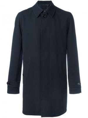 Классическое пальто Ermenegildo Zegna. Цвет: синий