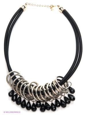 Колье Lovely Jewelry. Цвет: черный, серебристый