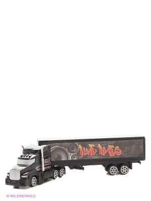 Коллекционная модель грузовика с полуприцепом Motormax. Цвет: черный