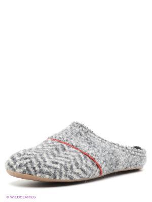 Тапочки Haflinger. Цвет: серый