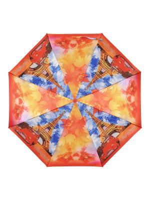 Зонт DINIYA. Цвет: синий, оранжевый