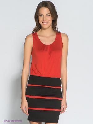 Платье Eunishop. Цвет: красный, черный