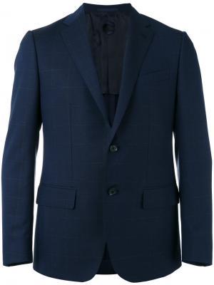 Костюм с пиджаком карманами Caruso. Цвет: синий