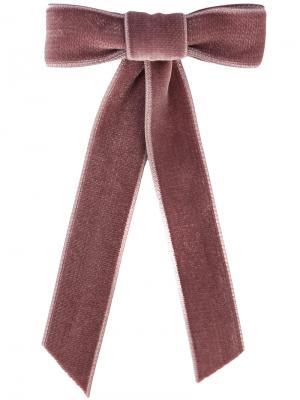 Бархатная заколка для волос Jennifer Behr. Цвет: розовый и фиолетовый