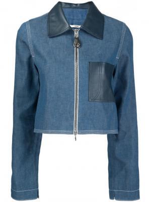 Укороченная джинсовая куртка Edun. Цвет: синий