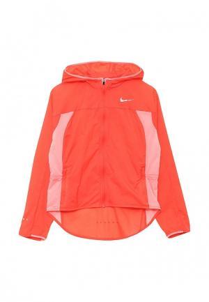 Ветровка Nike. Цвет: оранжевый