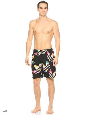 Пляжные шорты взр. PW SURF SHORTS  BLACK/WHITE Adidas. Цвет: черный