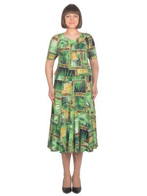 Кофточка Томилочка Мода ТМ. Цвет: светло-зеленый, желтый, светло-коричневый