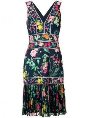 Платье Olga Tadashi Shoji. Цвет: многоцветный