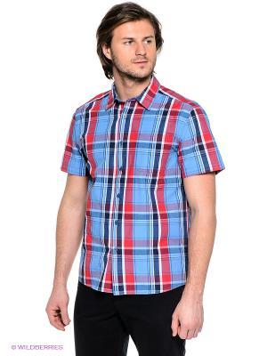 Рубашка Finn Flare. Цвет: синий, красный, темно-синий