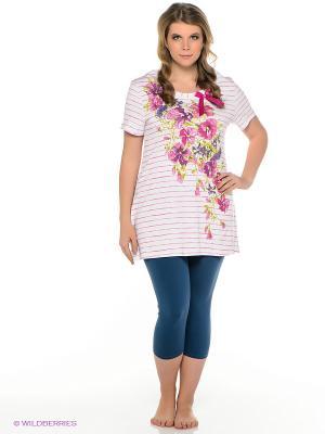 Пижама PELICAN. Цвет: серо-голубой, розовый