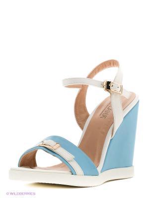 Босоножки MILANA. Цвет: голубой, белый