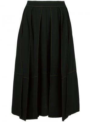 Пышная юбка миди Veronique Leroy. Цвет: чёрный