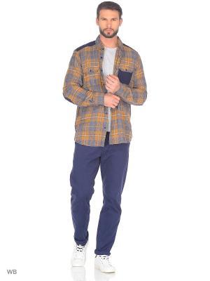Рубашка Modis. Цвет: светло-коричневый, светло-оранжевый, черный