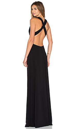 Вечернее платье с глубоким v-образным вырезом JILL STUART. Цвет: черный