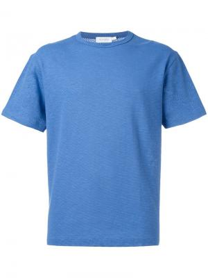 Футболка Raschel Knit Sunspel. Цвет: синий