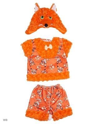 Карнавальный костюм Лисёнок Рыжик Батик. Цвет: оранжевый