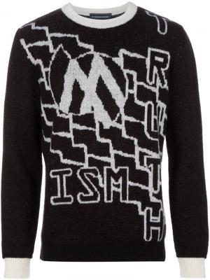 Вязаный свитер с узором Devon Halfnight Leflufy. Цвет: чёрный