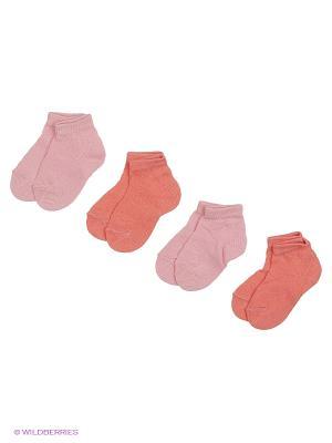 Носки - 4 пары Гамма. Цвет: розовый, коралловый