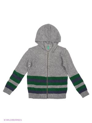Кофта United Colors of Benetton. Цвет: серый, синий, зеленый