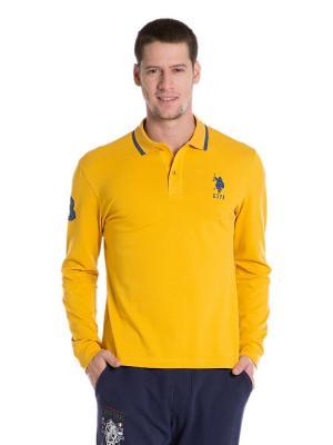 Лонгслив U.S. Polo Assn.. Цвет: желтый