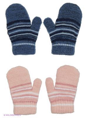 Варежки FOMAS. Цвет: розовый, белый, синий, голубой