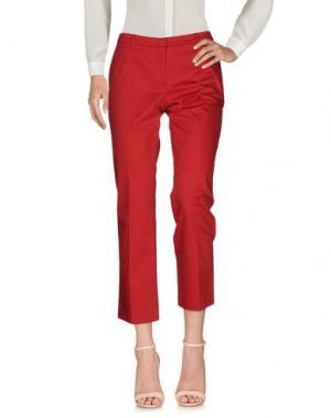 Повседневные брюки GENTE ROMA. Цвет: красный