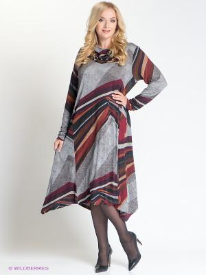 Платье Forus. Цвет: серый, бордовый, зеленый, сливовый
