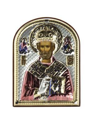 Икона Святой Николай Чудотворец (9.5*13) NAVELL. Цвет: серебристый