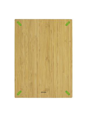 Разделочная доска из бамбука, 38 х 28 см, NADOBA, серия STANA Nadoba. Цвет: зеленый, бежевый