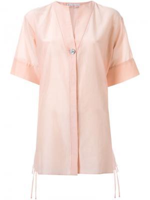 Рубашка с короткими рукавами Akane Utsunomiya. Цвет: розовый и фиолетовый