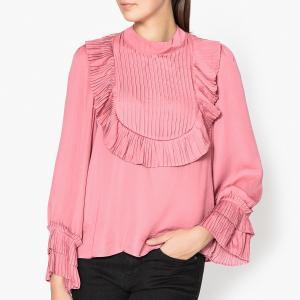 Блузка с манишкой SISTER JANE. Цвет: розовый