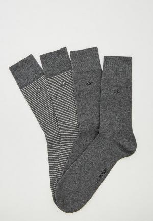 Комплект Calvin Klein Underwear. Цвет: серый