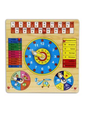 Деревянная игрушка Календарь. Фабрика Фантазий. Цвет: синий, белый, красный