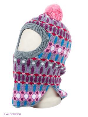 Шапка Maxval. Цвет: серый, малиновый, розовый, сиреневый, фиолетовый
