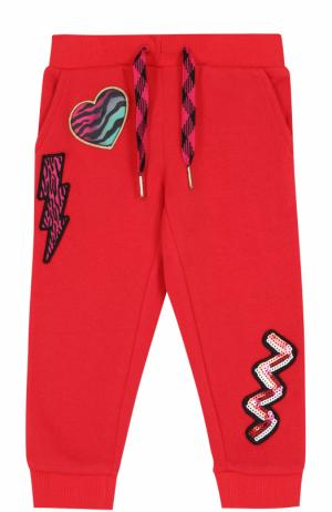 Трикотажные джоггеры с аппликациями Marc Jacobs. Цвет: красный