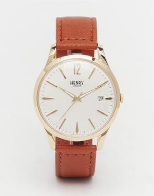 Henry London Часы с кожаным ремешком Westminster. Цвет: коричневый