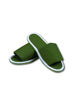 Тапочки Домашние противогрибковые SMART-TEXTILE. Цвет: зеленый