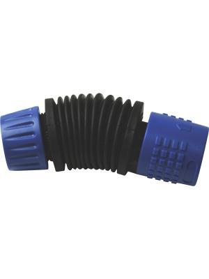 Коннектор гибкий 12 мм, 1/2 GREEN APPLE. Цвет: синий, черный