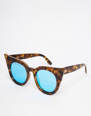 Le Specs Солнцезащитные очки кошачий глаз Flashy Dramatic. Цвет: черный