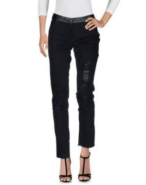 Джинсовые брюки JITROIS. Цвет: черный