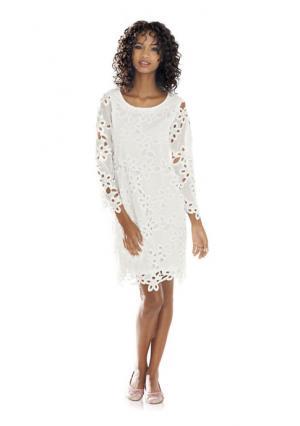 Платье Linea Tesini. Цвет: молочно-белый, нежно-розовый