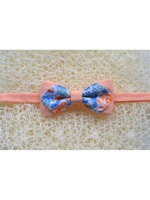 Галстук-бабочка BOB Accessories. Цвет: синий, белый, оранжевый