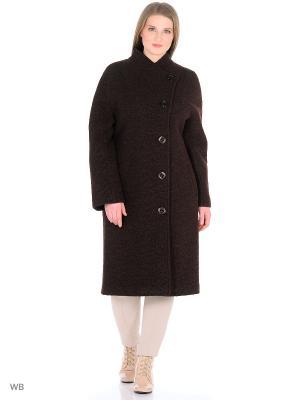 Пальто Anora. Цвет: темно-коричневый