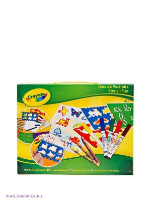 Набор трафаретов с карандашами Crayola. Цвет: зеленый