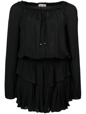 Платье с вырезом на завязках Love Shack Fancy. Цвет: чёрный