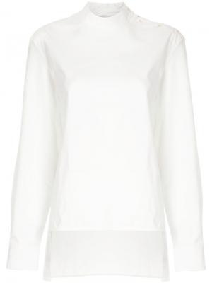 Асимметричная рубашка Studio Nicholson. Цвет: белый